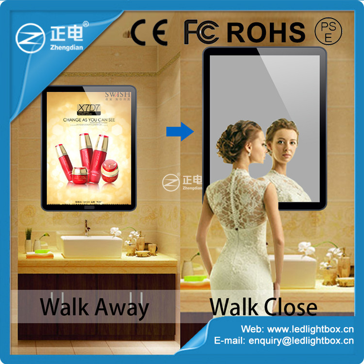 Best price A3 size advertising led light box with magic mirror