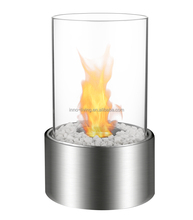 on sale top table mini ethanol fireplace TT-15 glass chimney