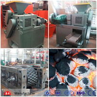 Egg shape bamboo charcoal powder briquette making machine