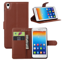 pu leather folio flip cover phone case for lenovo s850