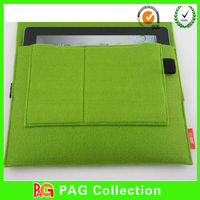 China Guang Dong Factory Green Color anti-slip felt Laptop Sleeve