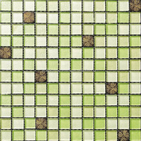best quality new cheap price interior textured green mosaic with medallion