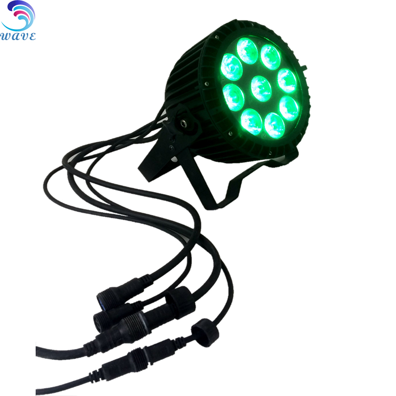 9*15w Dj Rgbwa+uv 6 In 1 Color Mixing Led Par Can Waterproof Ip65 Outdoor Wedding Party Light