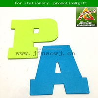 letter shaped memo pad