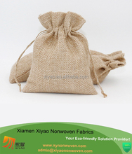 Jute Burlap Bags With Natural Jute Drawstring Burlap Pouch Favor Bag
