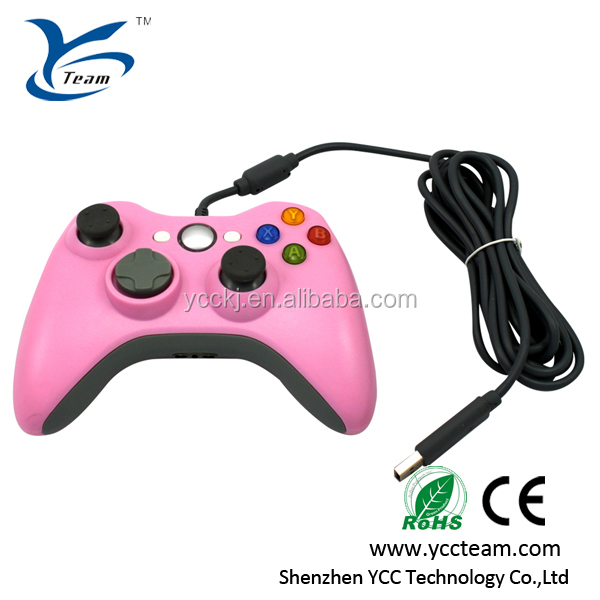 China wholesale price ABS analog Wireless Game Controller for xbox 360 controller pink game accessories for xbox