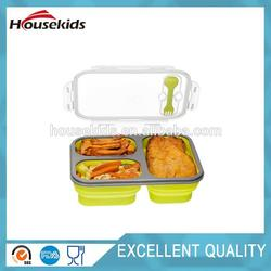 Multifunctional silicone collapsible food container with low price