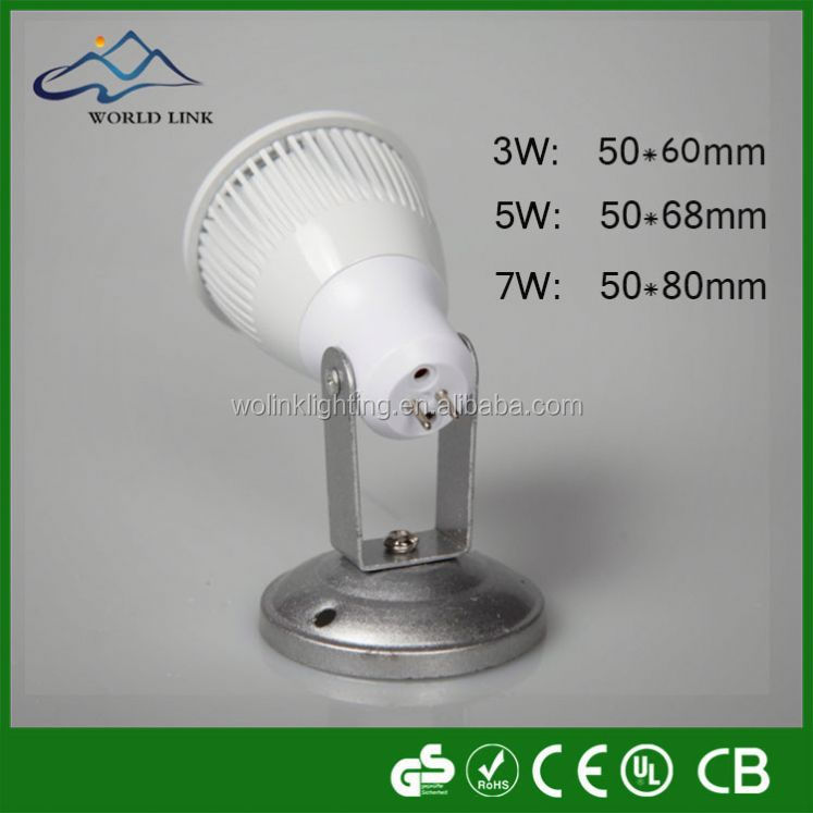 High quality rechargeable candle power spotlight gu10 led spot