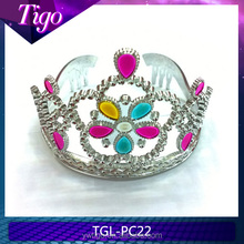 Wholesale promotional children plastic pageant tiara