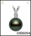 14k White Gold DIY pendant mounting for AAA Quality Black Green Japanese Akoya, pendant necklace mount for pearl