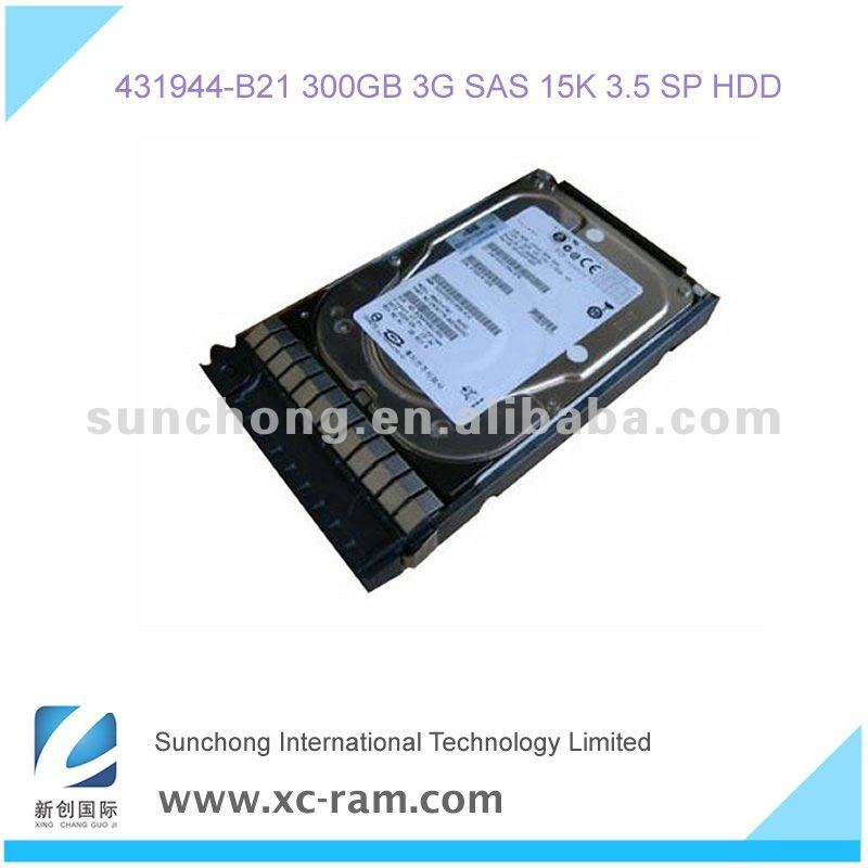 300GB 3G SAS 15K 3.5 SP HDD 431944-B21 Server Hard Drive for HP Server