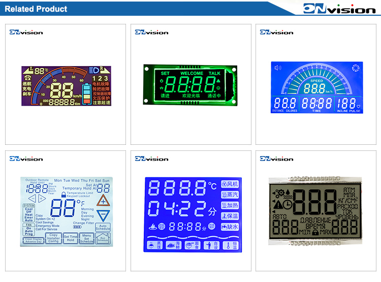 Air condition use TN positive numeric 7 segment lcd module 4 digit lcd display