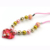 Promotion girls accessory cute pink peach red glitter heart beaded necklace for party