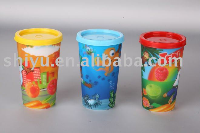 3D lenticular children cup ( promotion gift )