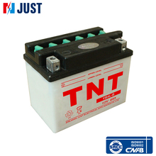 Chinese golden producer JUST TNT deep cycle motorcycle 12v battery