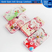 Crystal Diamond Case With Card Holder For Samsung S4 i9500, Leather Case With Diamond For Galaxy S4 i9500