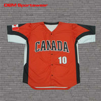 custom made cheap polyester men baseball jerseys