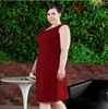 New design fashion evening dress for fat women knit women xxxl night dress