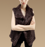 Lantian Fur New 2016 Women Genuine Knitted Rabbit Fur Vest