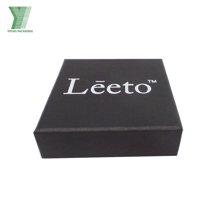 High Quality Boxes Packaging Black Card Paper Gift Box for USB