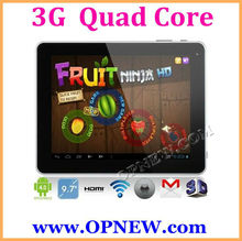 "Factory Wholesale 9.7"" Build in 3G Tablet WCDMA Phone CALL Android 4.2 MID notebook PC Bluetooth 3G & 2G Phone OPNEW"