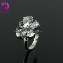 Fashion White CZ Stone Egyptian Wedding Rings