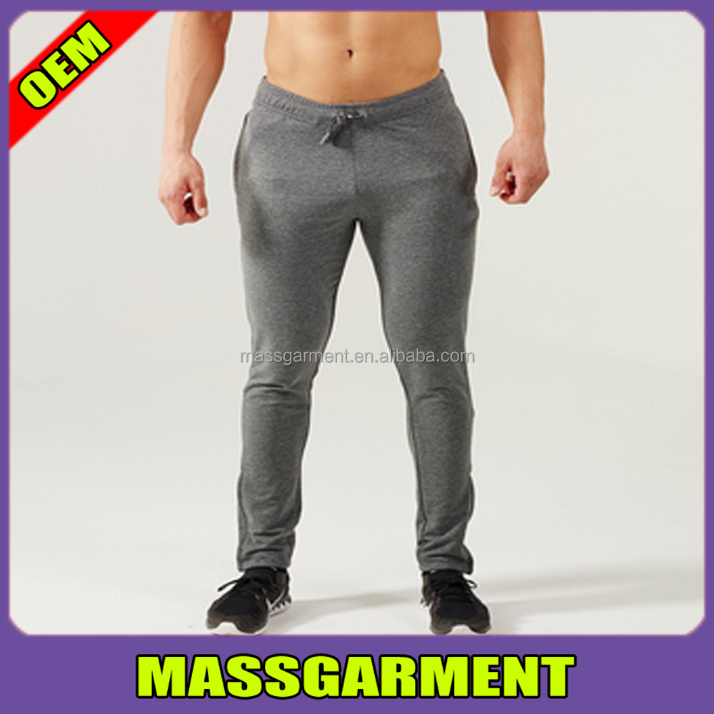 Stretch Slim Mens Jogger Pants Custom Fitness Pants Factory