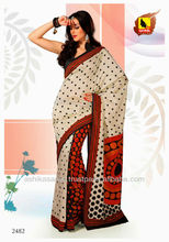 Simple and sober look, this saree in Off White color is engraved on Raw silk material.