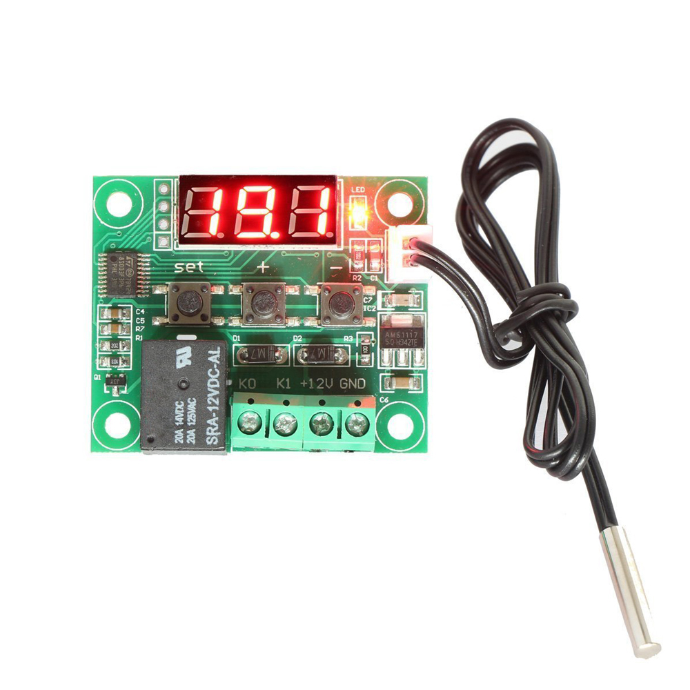 XH-W1209 Digital Thermostat Temperature Display Control Switch + Sensor 12V