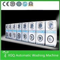 Coin operated industrial washing machine with dryer