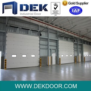 Remote control aluminium sandwich panel industrial automatic overhead sectional door