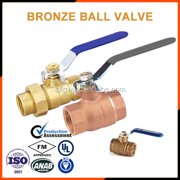 pipe support bronze valve ball valves with clamp connected