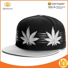 custom made high quality embroidery logo reflection brim snapback hats wholesale