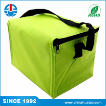 Fugang China OEM Custom Green Big Size Water Bottle Cooler Bag With Zipper