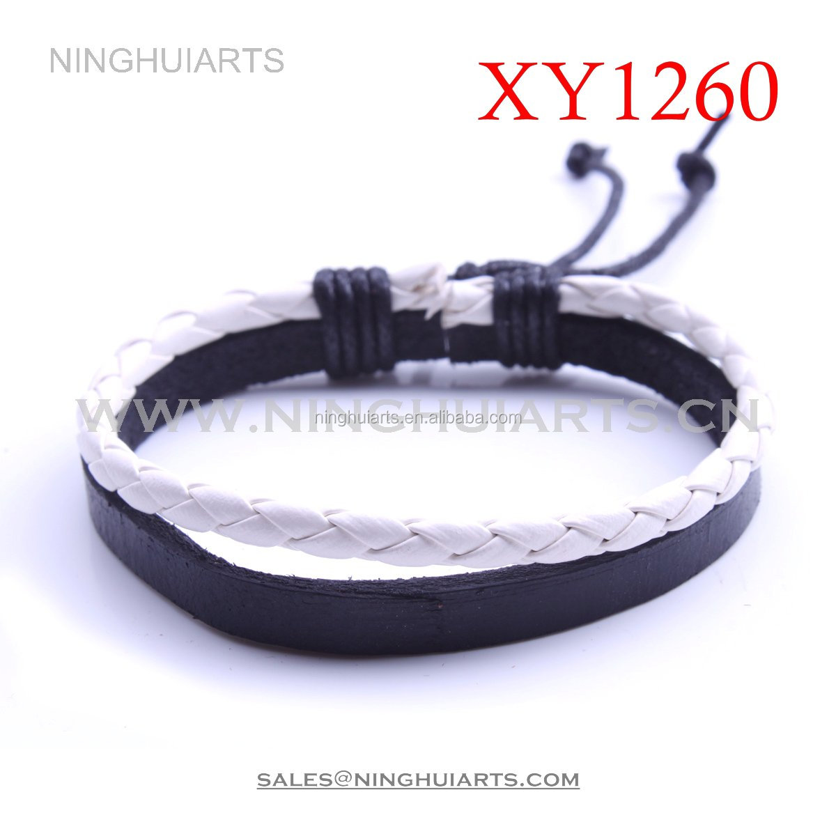 wholesale magnetic clasp & leather bracelets for women plain leathers mens leather bracelets engraved Alibaba China Supplier
