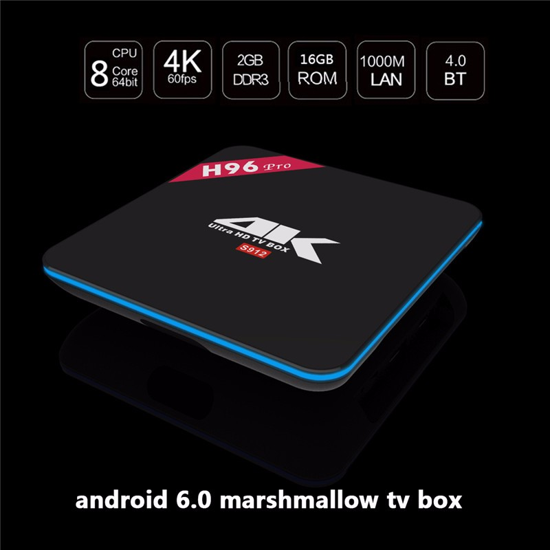 H96 Pro Android 6.0 TV Box Amlogic S912 Octa core 2G 16G Android Box H96pro