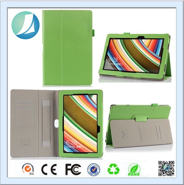 Hot selling pu leather case flip folding tablet case For Asus T100ta