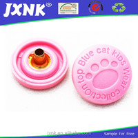 cartoon design plastic snap fastener with animals feet for top blue cat kids wear