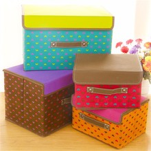 well and high quality control non-woven fabric storage box with lid