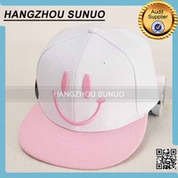 Embroidery Smile Logo PlasticButton Baseball Cap Sex Girl Hat