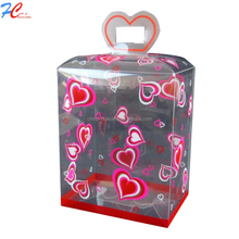 High quality clear plastic luxury heart flower shape gift box PVC transparent box