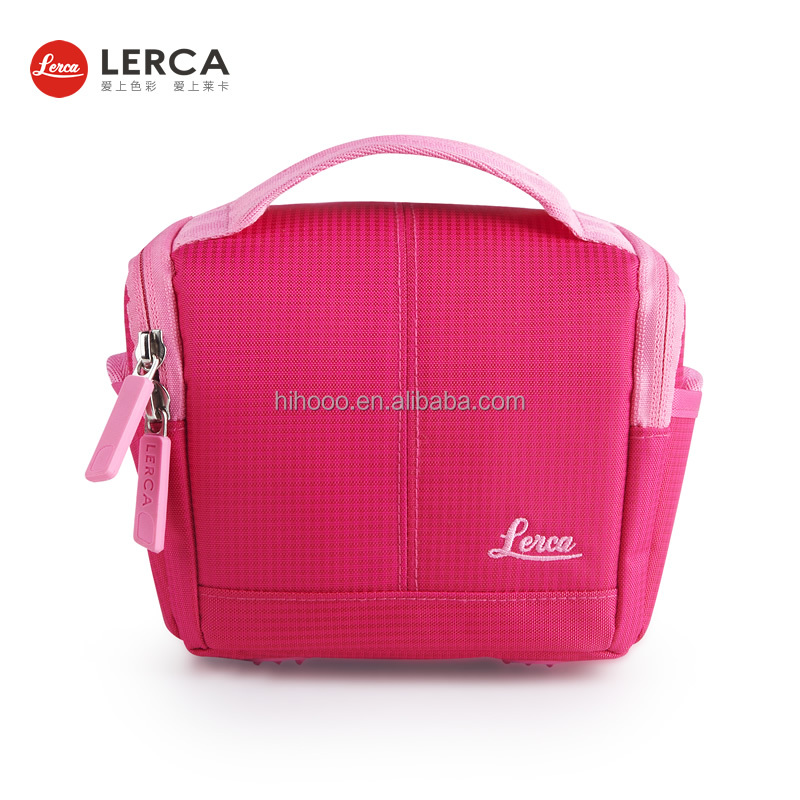 420D Nylon WaterProof Fashion Colorful Digital Unique Pink Camera Bag