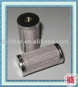 Stainless steel tube filter element