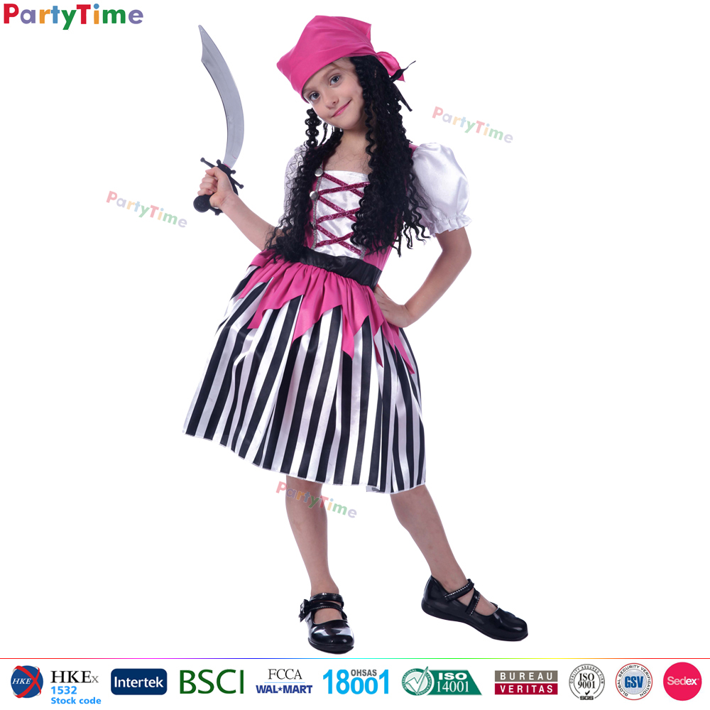 Party Time fashion style child carnival dresses halloween girl kids pirate costume