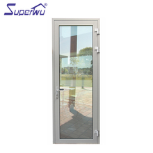 AAMA,NFRC,DADE florida test Bronze color safety heated impact glass aluminium exterior aluminium out swing door