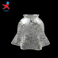 handmade clear flower design glass table lamp shade