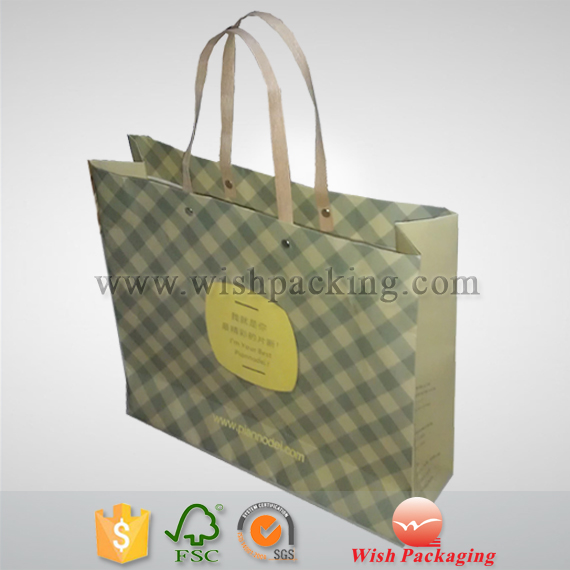 Flexi loop Handle 100% natural brown kraft grocery paper bag