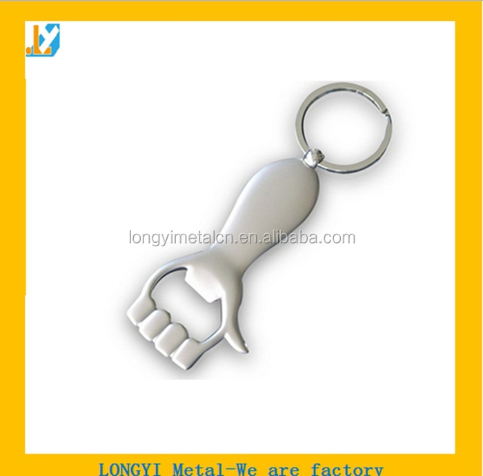 Promotional stainless steel bottle opener/key chain