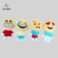 Smiley face different designs emoji plush stuffed lovely pillow toys for popular gift