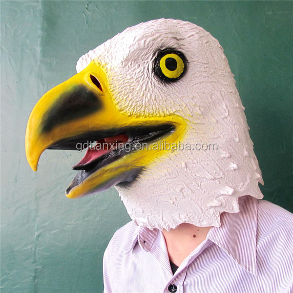 Trade Assurance 2016 Halloween Carnival Party Eagle Mask Latex Animal Mask